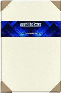 50 张柔软白色羊皮纸 60# 文本(= 24# 粘合)纸 - 27.94 厘米 X 43.18 厘米(11X17 英寸)小册子|小册子尺寸 - 27.24 千克不是卡片重量 - 复古彩色旧羊皮纸