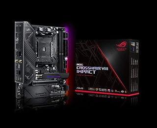 ASUS 华硕 ROG Crosshair VIII Impact,X570,Mini-DTX 游戏主板,AMD, AM4, Ryzen 3000,10 个功率级数调整,PCIe 4.0, M.2, DDR4, OptiMem III, Wi-...