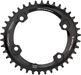 Wolf Tooth Components 110 BCD 不对称4 螺栓 适用于 Shimano GRX 曲柄(Drop Stop B,36t)