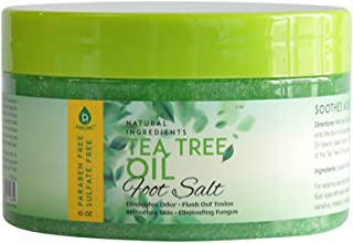 Pursonic 茶树油含泻盐浸泡,有助于吸收脚趾甲*,运动员脚和顽固脚臭 - 软化老茧,舒缓*的脚痛,10 盎司(约 283.5 克)