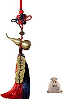 LYLEAF 中国风水装饰 带中国结、中国硬币和好运 Wu Lou