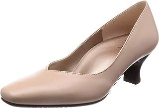 [萨克森沃克] 浅口鞋 方头 鞋跟5cm EE~3E 牛皮 WIN650