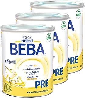 Nestlé 雀巢 BEBA 婴儿奶粉 Pre段(适用于初生婴儿),3罐装(3 x 800g)
