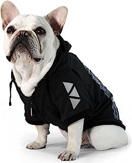 PAWERK.宠物衣服 夜间反光狗狗帽衫 牵狗宠物运动衫 可调节适合小型、中型、大型犬。 (S - 3XL) (3XL)