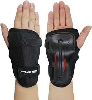 CTHOPER 成人/儿童长阻尼防滑防摔护腕防护装置适用于轮滑滑冰滑雪板滑雪自行车滑板摩托车