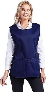 Nanxson 2 件套中性款鹅卵石围裙,带 2 个深口袋,罩衫带侧系带,适用于工作厨房 CF3137