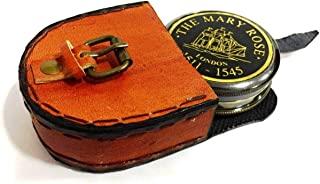 Brass Compass The Mary Rose 伦敦指南针 带皮革盒 海洋航海礼物