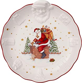 Villeroy & Boch 德国唯宝 Toys Fantasy 碗,带圣诞老人浮雕,优质瓷器,白色,彩色,中号