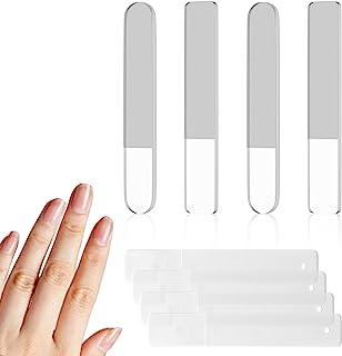 玻璃*锉,4 件*纳米玻璃*刀专业*抛光机便携式水晶*锉套装带盒适用于天然*丙烯酸*聚甲凝胶壳*塑形平滑