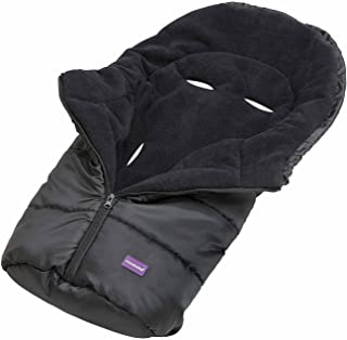 ClevaMama 婴儿、婴幼儿和新生儿汽车座椅脚套 超舒适保暖羊毛防水防滑 - 黑色,37 x 77厘米