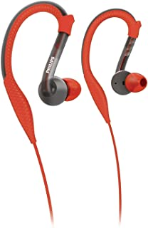 Philips ActionFit Sports Earhook Headphones SHQ3200/28, Orange and Grey