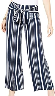 INC International Concepts 女式条纹束腰阔腿裤