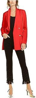 INC International Concepts 女式双排扣西装 红色 L 码