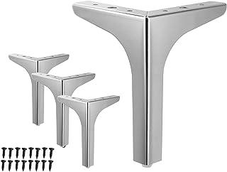 WEICHEN 7 英寸(约 17.8 厘米)金属家具腿金属抛光银色三角沙发腿,适用于桌柜橱柜沙发家具脚 4 件套(7 英寸(约 17.8 厘米)-银色