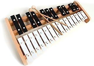 专业木制高音全尺寸钟琴木琴,带 27 个金属钥匙,适合成人和儿童 - 包括 2 个木制击打器KJ-Xylo27-BlackWhite
