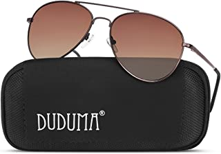 duduma 飞行员太阳镜适用于男式女式镜面太阳眼镜墨镜 UV 400