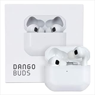 DANGOBUDS 真正的无线耳机 带麦克风 – 降噪耳塞和无线耳机| 适用于游戏和锻炼的蓝牙耳塞 | 运动耳塞带耳塞盒(白色)