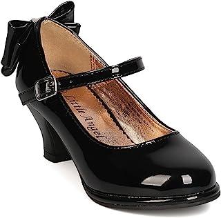 女孩 人造革后领结 Mary Jane Kiddie 鞋跟 GB48