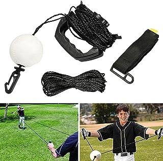 Nobgum 棒球击球训练器便携式棒球挥杆训练辅助设备专业棒球调音设备套件提高户外锻炼训练用品的击球技能(黑色)