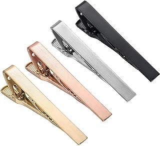 HAWSON 2.2 英寸(约 5.6 厘米)男士领带夹 4 种颜色,适合日常生活中的普通领带