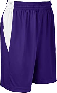 CHAMPRO Block 涤纶篮球运动衫,女式 3XL 码,紫色,白色