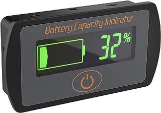 电池容量指示器,DROK DC 5V-66V 铅酸电池百分比电压测试仪 12V 24V 36V LCD 电量电压检测器仪表面板仪表锂电池状态监视器适用于汽车