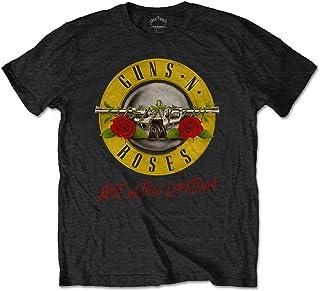 Guns N Roses T 恤 Not in This Lifetime 巡回赛乐队标志官方男士黑色