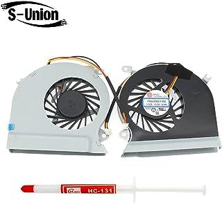 S-Union 新款笔记本电脑 CPU 更换冷却风扇 带 3 线连接器 适用于 MSI GE70 MS-1756 MS-1757 CPU-VGA 系列 替换零件编号 DC5V 0.55A E33-0800413-MC2 带热油脂