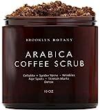 Brooklyn Botany Arabica 咖啡身体磨砂膏和面部磨砂膏 - 天然 - 椰子和乳木果油 - 很好的抗…