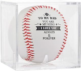 亚克力展示盒中的*佳印刷棒球,送给父亲的生日礼物 - 到我的爸爸你是我的英雄