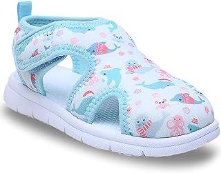 幼儿沙滩凉鞋快干可爱水鞋一脚蹬夏季游泳池适合 2-8 岁的小孩男孩女孩