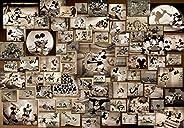 Tenyo 1000片 拼图 迪士尼 米老鼠 黑白电影拼图(51x73.5cm)