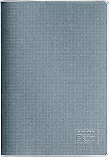 kleid 记事本 2020年 A5 月度 2毫米网格日记本 灰色 8844 (2019年 12月开始)