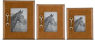 K&K Interiors 16931A-TN 棕褐色相框 带金马钻头