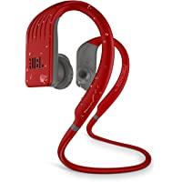 JBL 耐力 JUMP 防水无线运动入耳式耳机,带一键式遥控(红色)