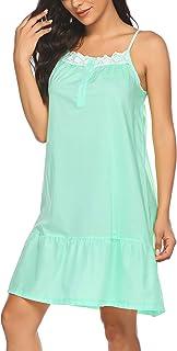 Ekouaer 睡衣 女式长睡衣 舒适维多利亚时代睡衣 S-XXL 码