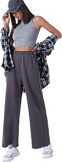 Floerns 女式弹性高腰口袋阔腿宽松裤