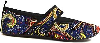 Futsoles by Nufoot 女士软面鞋适合室内/室外,可折叠和灵活的鞋履,适合运动、锻炼、瑜伽或旅行、舞鞋