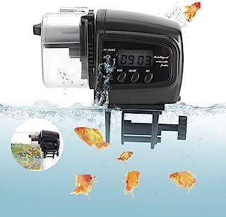 Yosoo 自动鱼喂食器 海龟喂食器 适用于水族箱 鱼缸 度假 周末鱼类食品分配器 带自动数字定时器 适用于鱼缸 鱼缸 (不含电池)