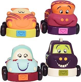 B.toys 比乐 宝宝回力车 发条车 4个装 生日礼物  婴幼儿童益智玩具 1-4岁