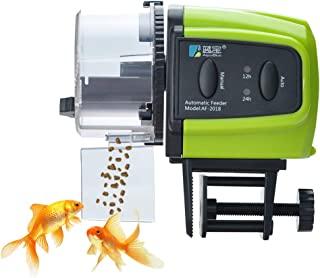 自动鱼饲料器,荔枝鱼饲料器鱼食品度假饲料器防潮电动定时自动喂料器适用于水族箱鱼缸