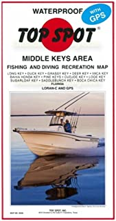 Top Spot N208 地图 - Boca Chica 中键长钥匙 LORAN-C 和 GPS