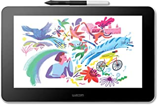 Wacom 和冠 带有免费软件的创意平板,带有手写笔,用于素描和绘图,13.3英寸,1920 x 1080全高清显示屏,鲜艳的色彩,手写精度高,非常适合家庭和远程学习工作
