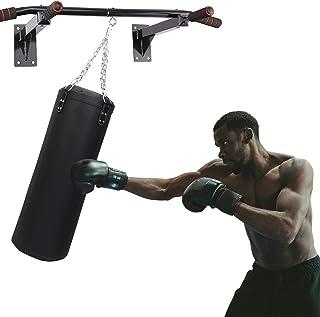 TANSHOW 壁挂式重型包衣架带拉杆 - 重型打孔袋衣架拳击袋安装支架