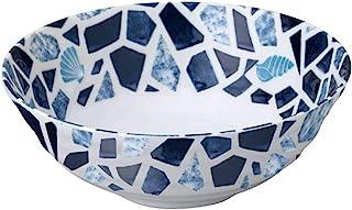【Amazon.co.jp限定】见谷陶器 大碗 海 拉面碗 陶瓷玻璃杯