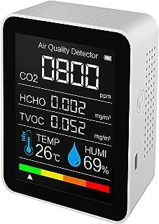 Irovami 空气质量计,湿度空气质量数字空气分析仪,适用于 CO2/HCHO/TVOC 精确测试仪套件,适用于家庭办公室