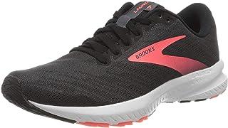 Brooks 女式 Launch 7 跑鞋,乌木色/黑色/珊瑚色,6 英码