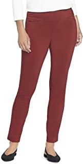 Van Heusen 女式娇小超弹力修身全长套穿裤 Russet 棕色 4 Petite