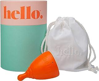THE HELLO CUP 小号/中号*杯 - FDA 注册,不含双酚 A,可重复使用,低致敏性,可回收,*级 TPE,无硅胶/橡胶/乳胶,持久,光滑舒适 - SM 橙色,1 只装