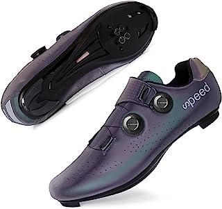 女式公路自行车鞋室内佩洛顿鞋 - 兼容 SPD 和 Delta 防滑鞋,女式自行车鞋